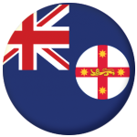 New South Wales State Flag 25mm Flat Back